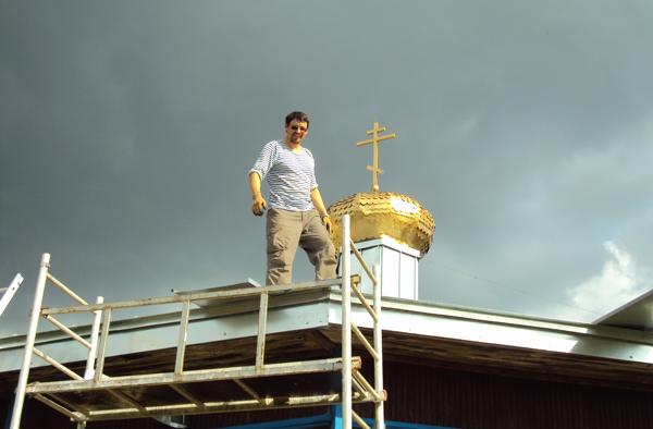 Ремонт крыши храма в ЛИУ-3
