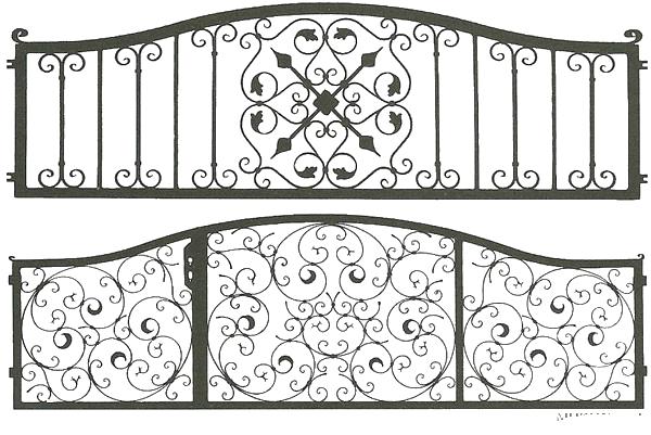 Узоры для ограды своими руками 9